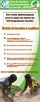 Derouleur présentatif des modules de formation sur le Plan de Gestion Environnementale et Sociale